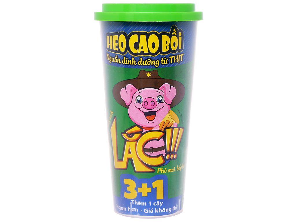 Xúc xích lắc phô mai bắp bơ Heo Cao Bồi hộp 64g 1