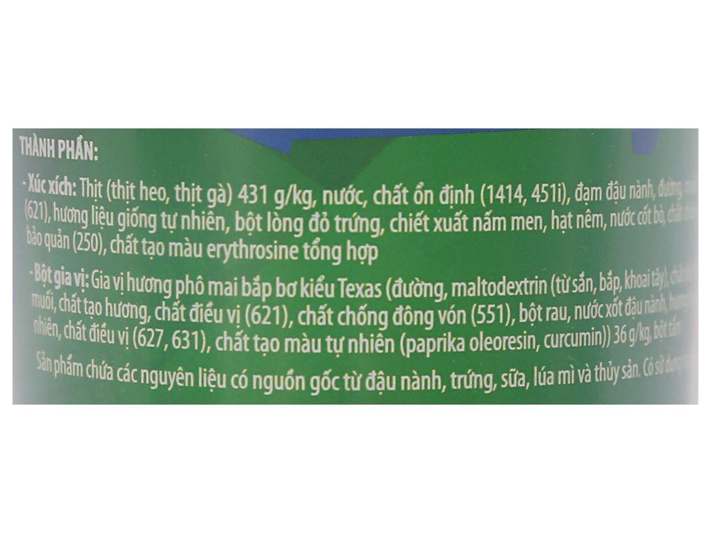 Xúc xích lắc phô mai bắp bơ Heo Cao Bồi hộp 64g 3