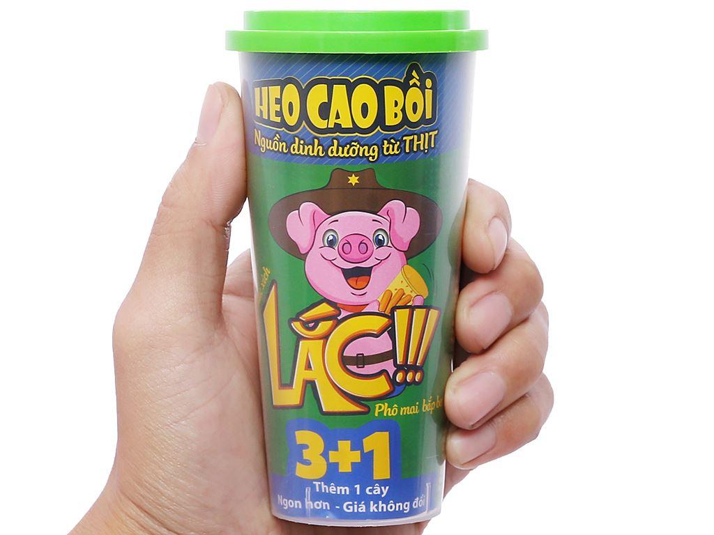 Xúc xích lắc phô mai bắp bơ Heo Cao Bồi hộp 64g 5