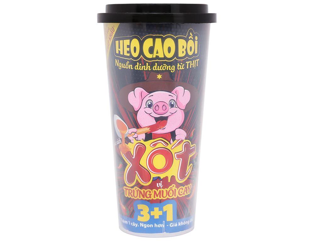 Xúc xích lắc xốt vị trứng muối cay Heo Cao Bồi ly 72g 1