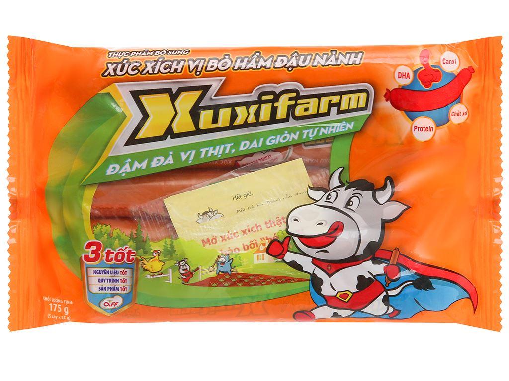 Xúc xích vị bò hầm đậu nành Xuxifarm gói 175g 1