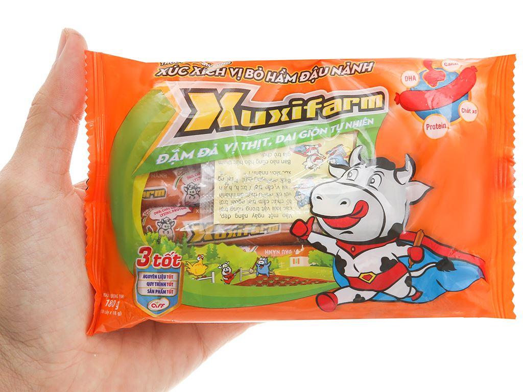 Xúc xích vị bò hầm đậu nành Xuxifarm gói 180g 4