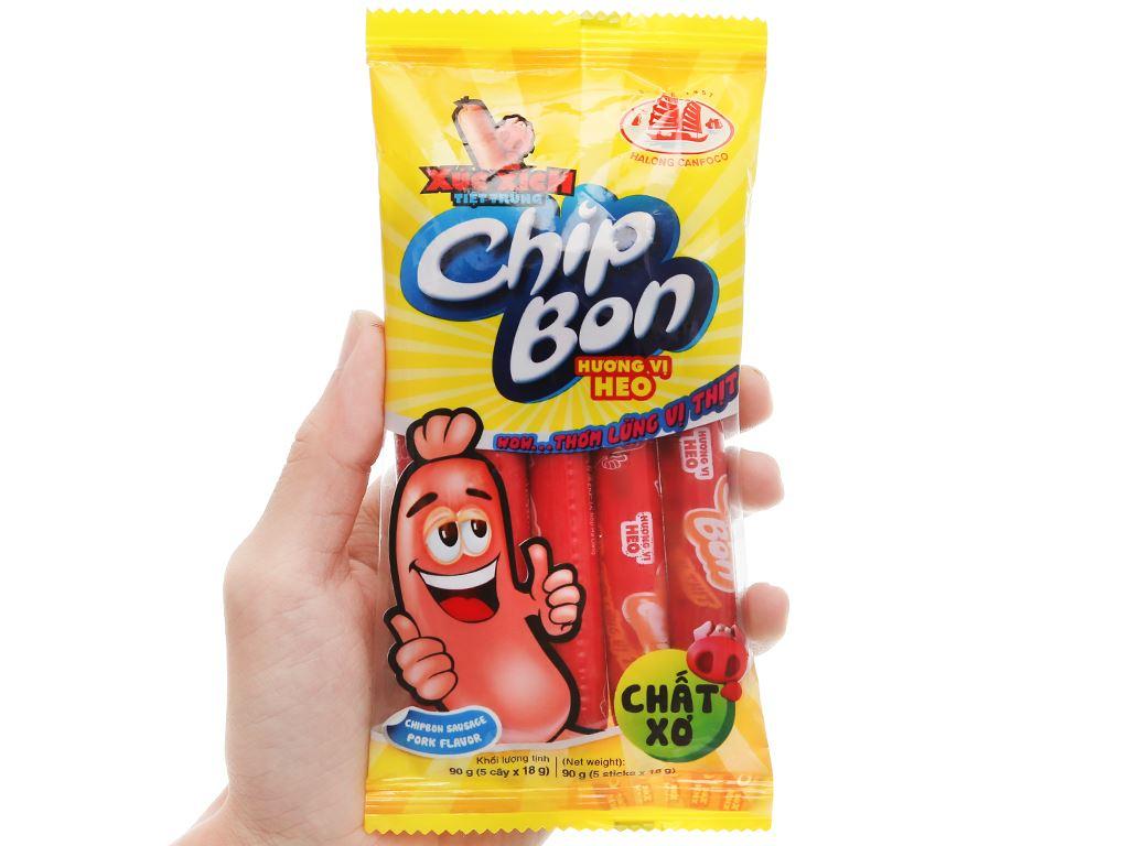 Xúc xích vị heo ChipBon gói 90g 4