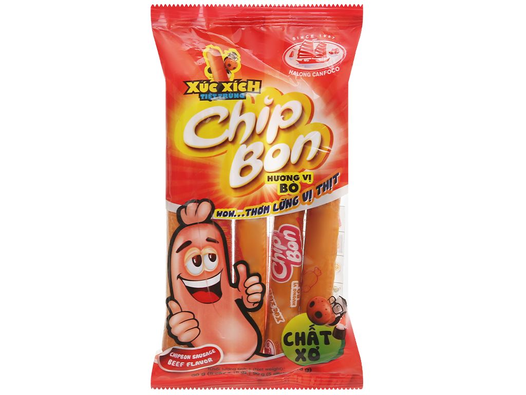 Xúc xích vị bò ChipBon gói 90g 1