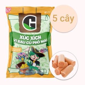 Xúc xích tiệt trùng vị rau củ phô mai G gói 150g (5 cây x 30g)