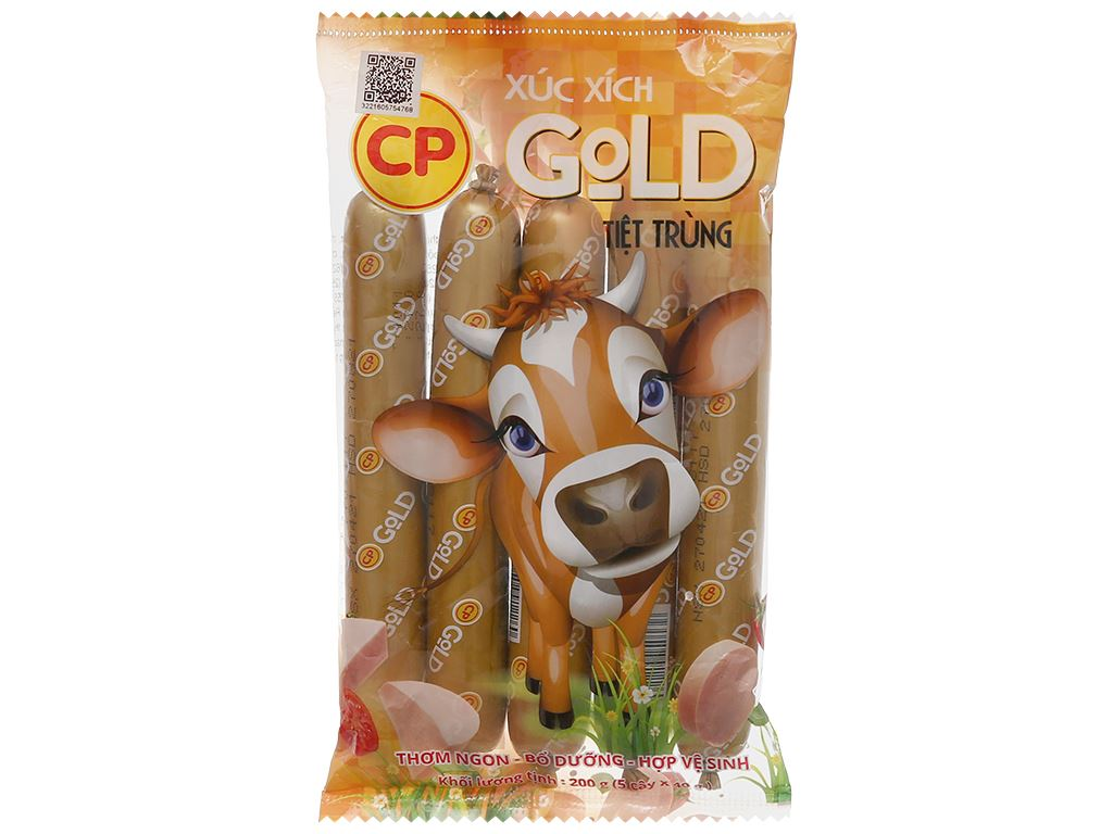 Xúc xích bò tiệt trùng Gold C.P gói 200g 1