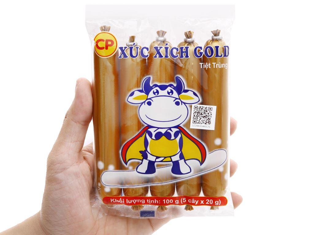 Xúc xích bò tiệt trùng C.P Gold gói 100g 4