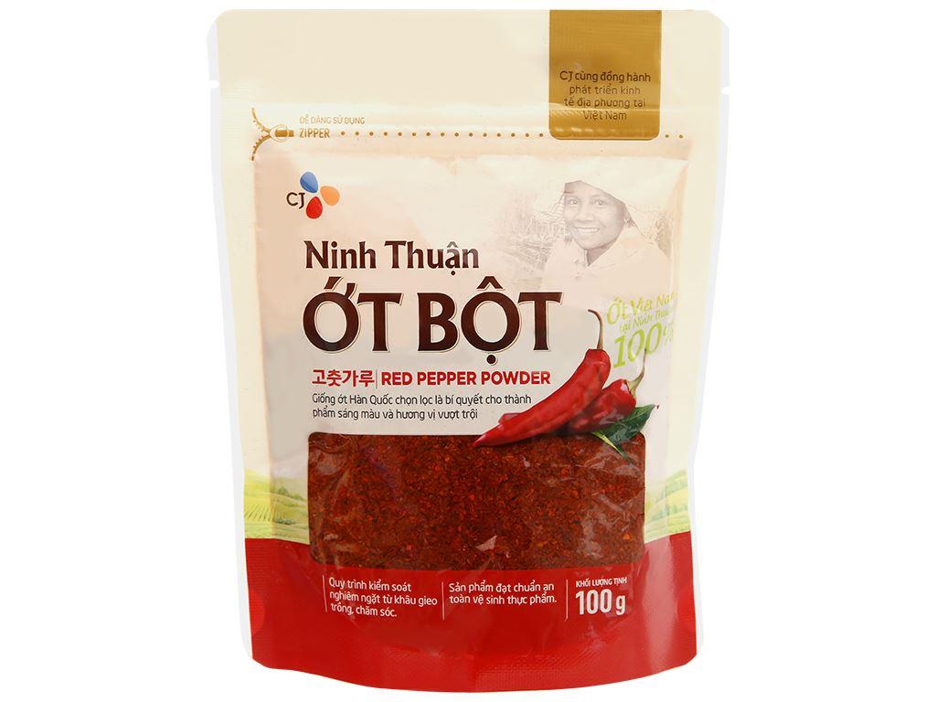 Ớt bột Ninh Thuận CJ Food gói 100g 6