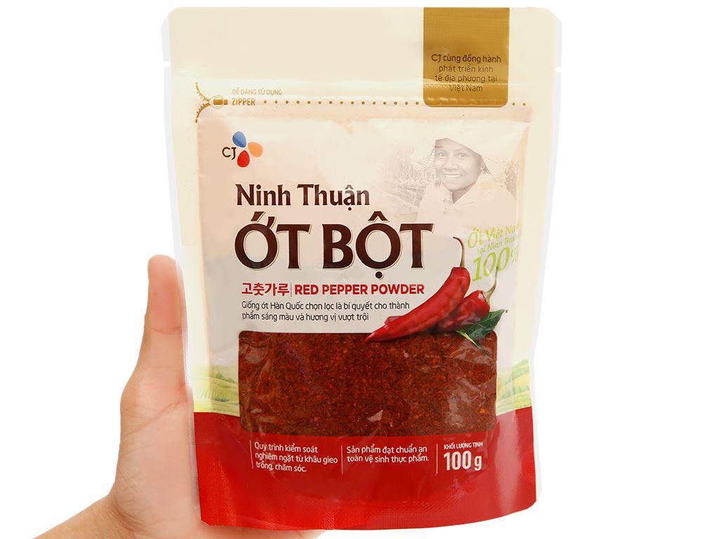 Ớt bột Ninh Thuận CJ Food gói 100g 9