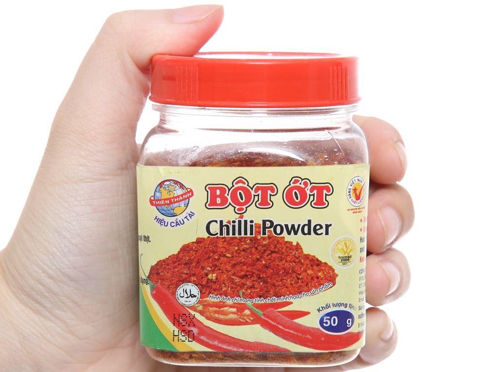 Bột ớt Thiên Thành hũ 50g 3