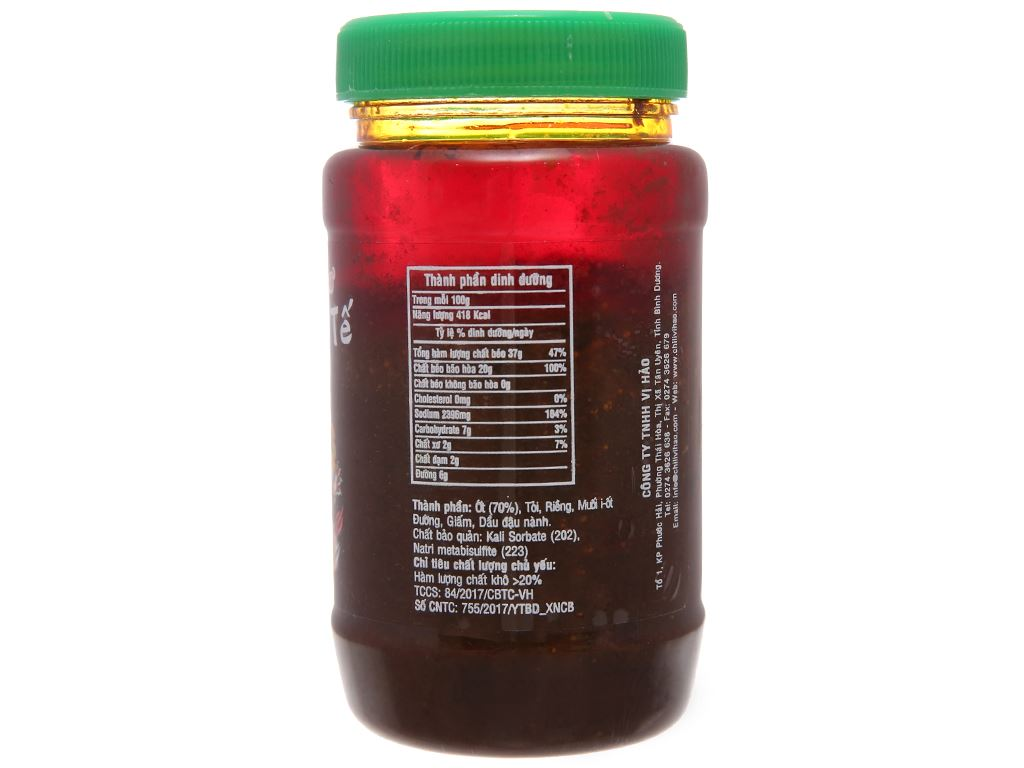 Ớt sa tế Vị Hảo hũ 250g 2