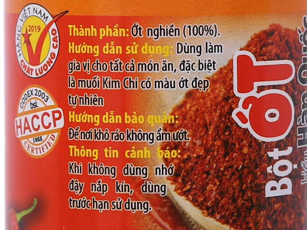 Bột ớt kiểu Hàn Quốc Ông Chà Và hũ 40g 3