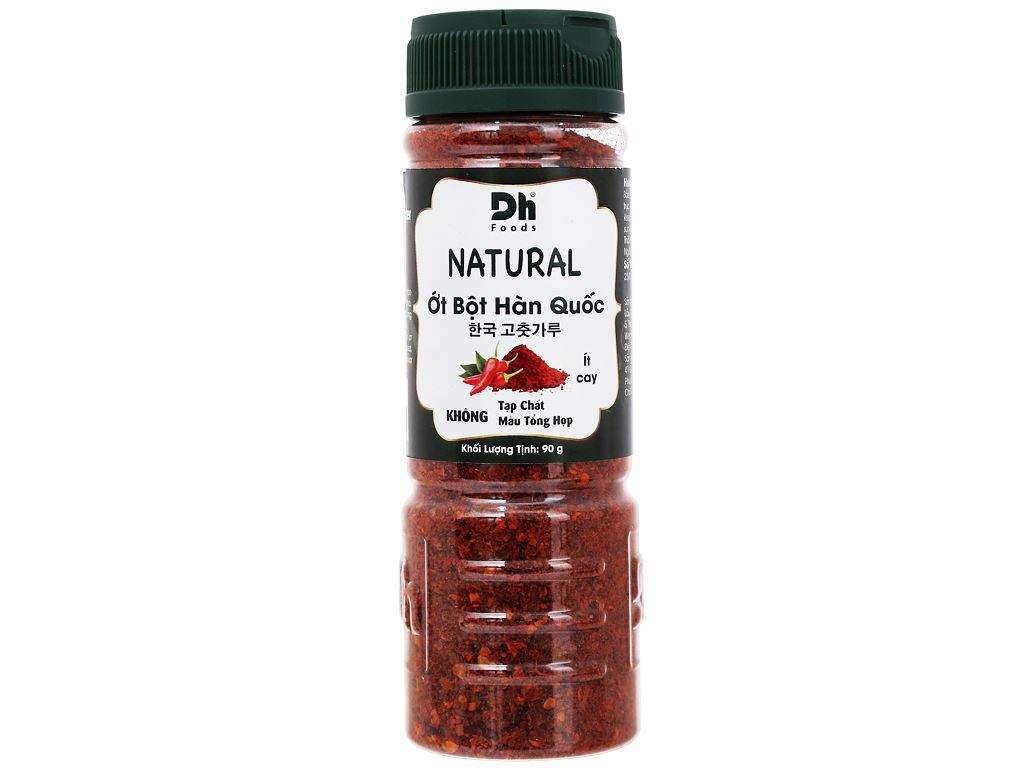 Ớt bột Hàn Quốc Natural Dh Food hũ 90g 2