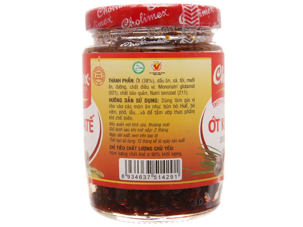 Ớt khô sa tế Cholimex hũ 100g 2