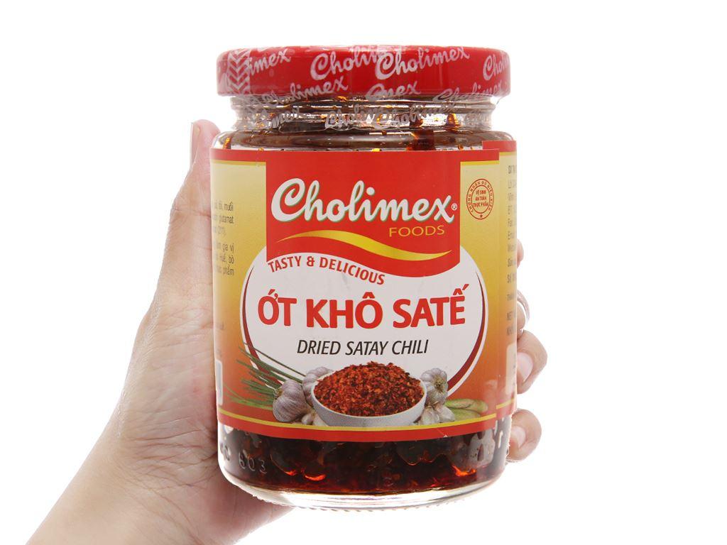 Ớt khô sa tế Cholimex hũ 100g 3