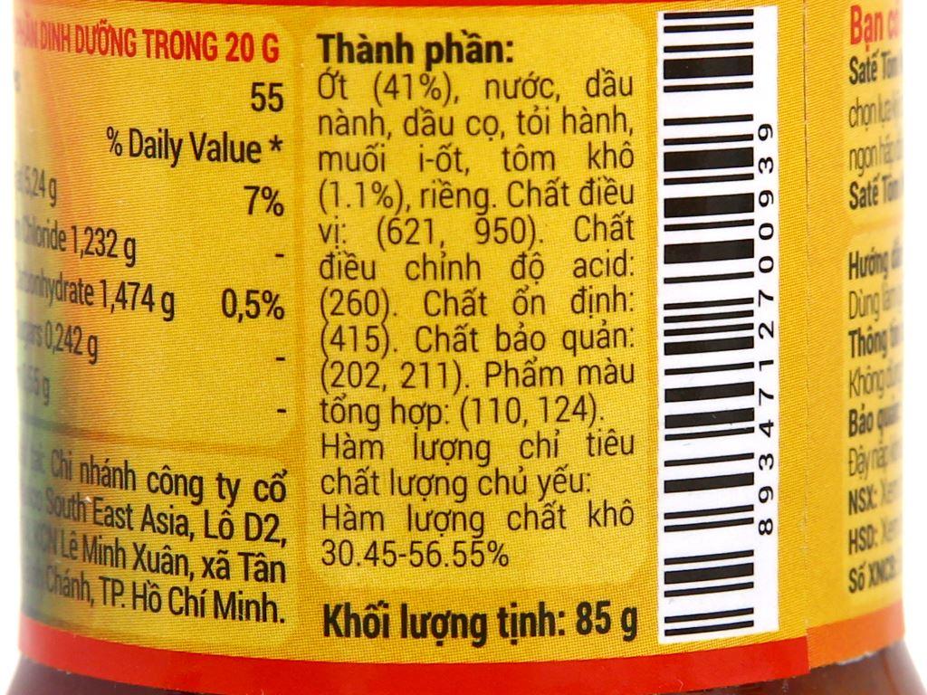 Sa tế tôm Thuận Phát hũ 85g 5