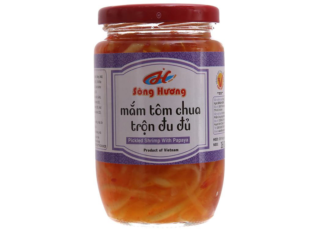 Mắm tôm chua trộn đu đủ Sông Hương hũ 430g 2