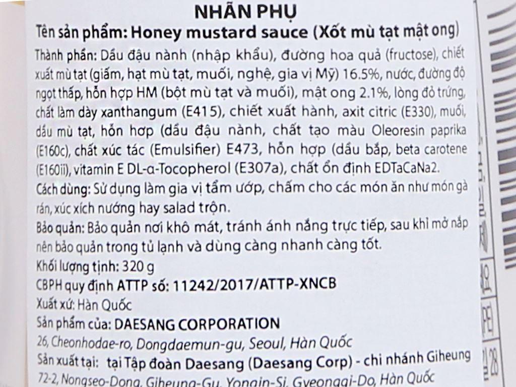 Sốt mù tạt mật ong Chung Jung One chai 320g 4