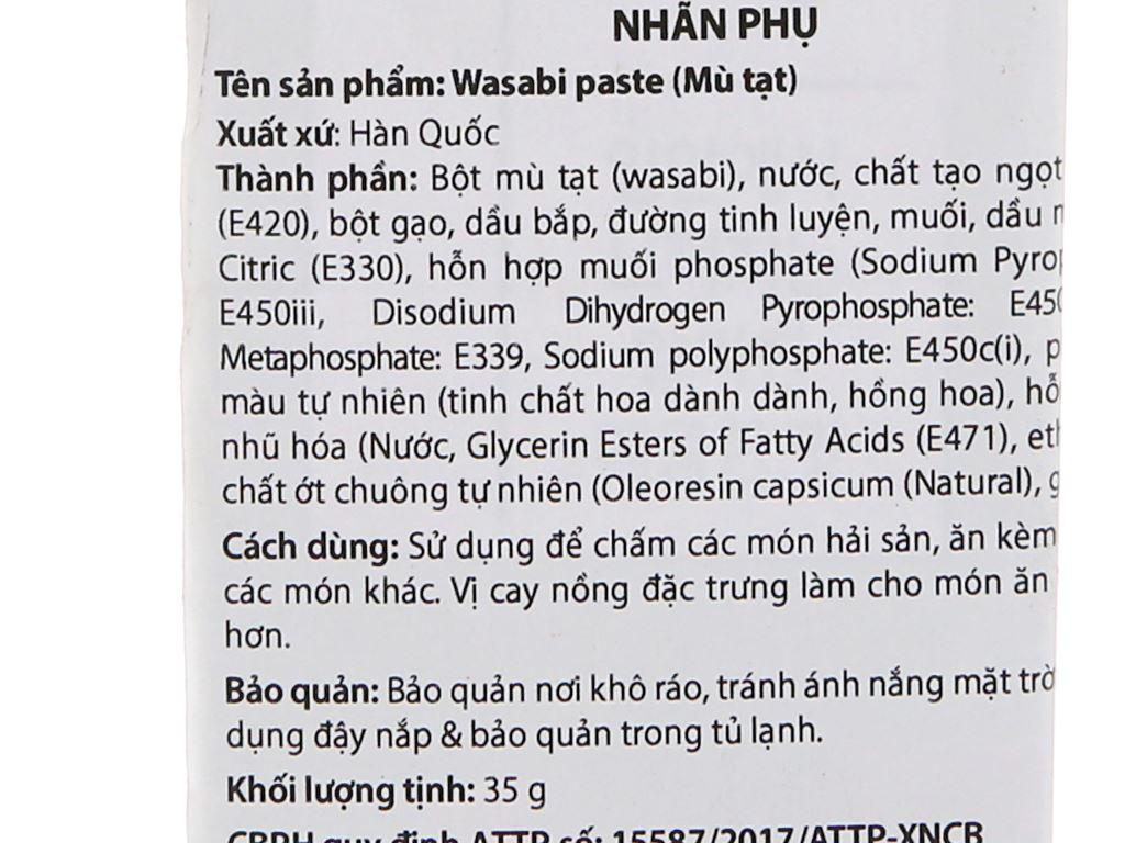 Mù tạt xanh Chung Jung One tuýp 35g 4