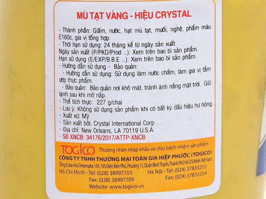 Mù tạt vàng Crystal chai 227g 5