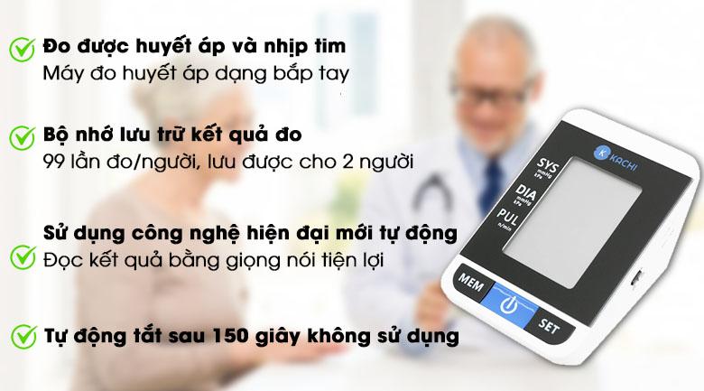 Máy đo huyết áp tự động Kachi MK-167