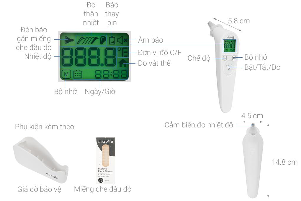 Nhiệt kế điện tử hồng ngoại Microlife IR210