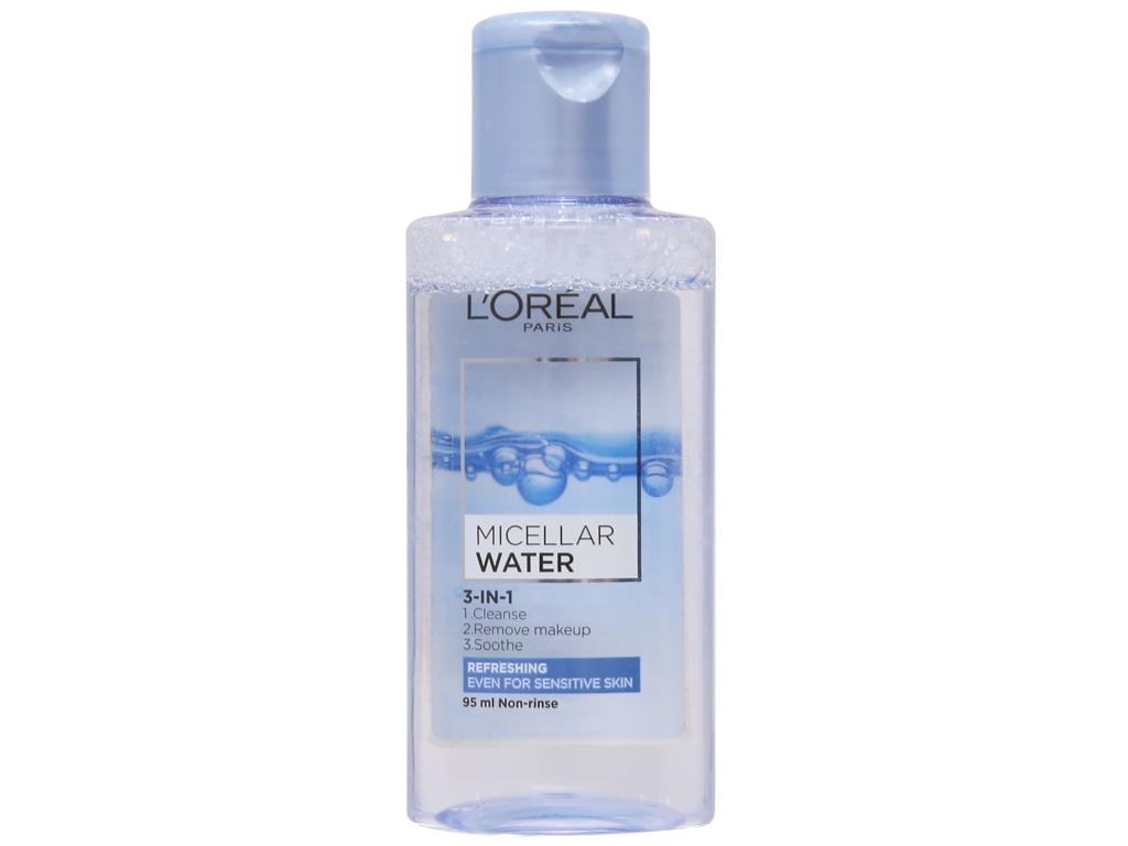 Nước tẩy trang 3 in 1 L'Oréal Micellar tươi mát da 95ml 2