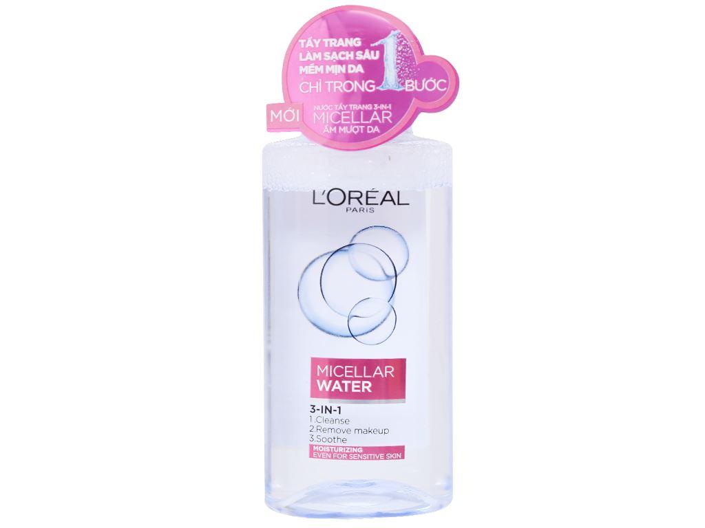 Nước tẩy trang 3 in 1 L'Oréal Micellar ẩm mượt da 95ml 2