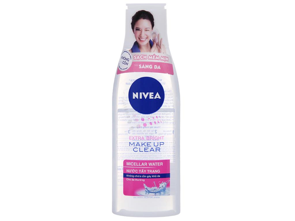 Nước tẩy trang Nivea sạch mềm mịn sáng da 200ml 2