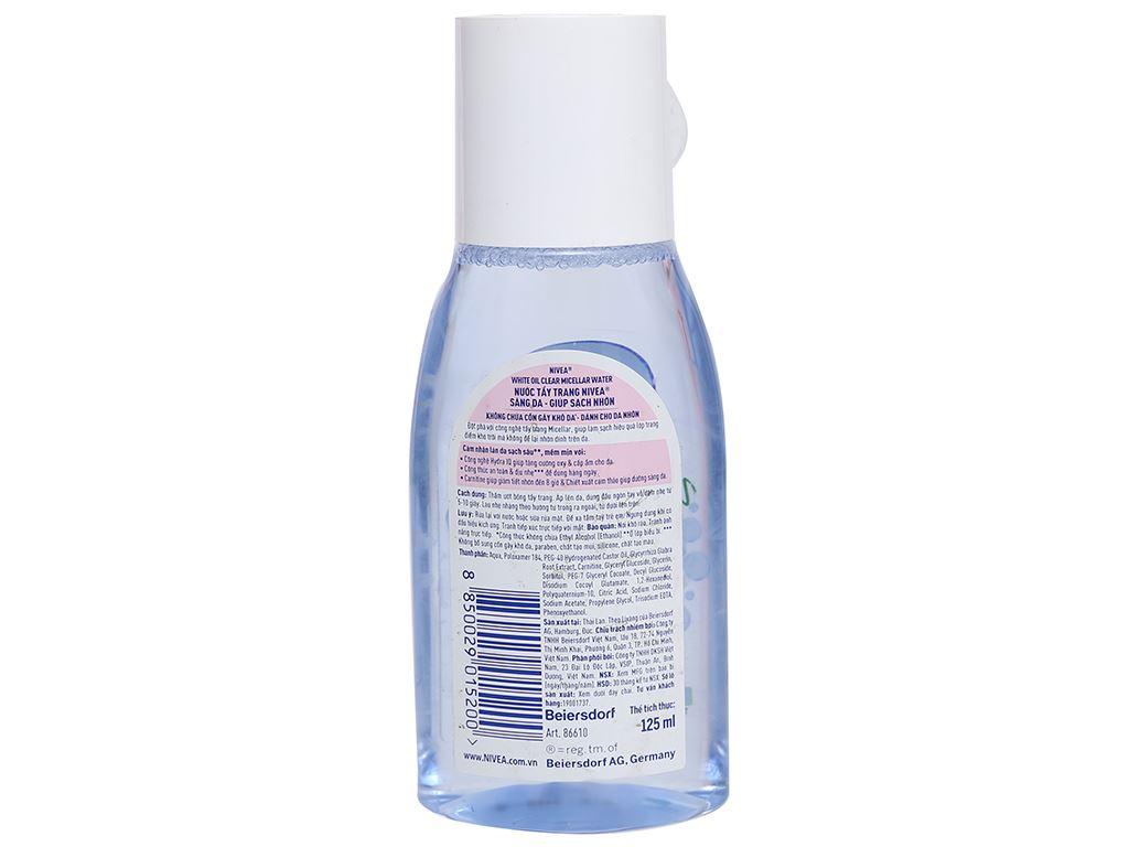 Nước tẩy trang Nivea sáng da sạch nhờn 125ml 6