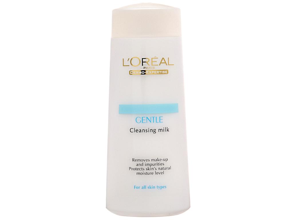 Sữa tẩy trang L'Oréal giữ ẩm, trắng da 200ml 1