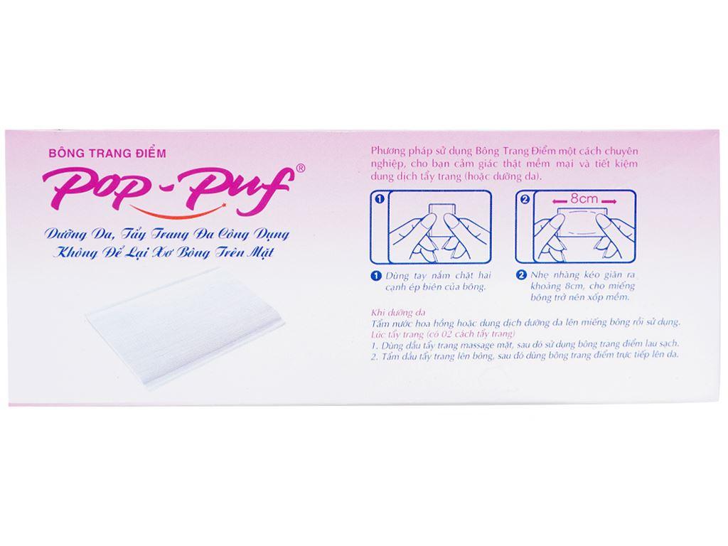Bông trang điểm PoP-Puf 2 công dụng hộp 100 miếng 4