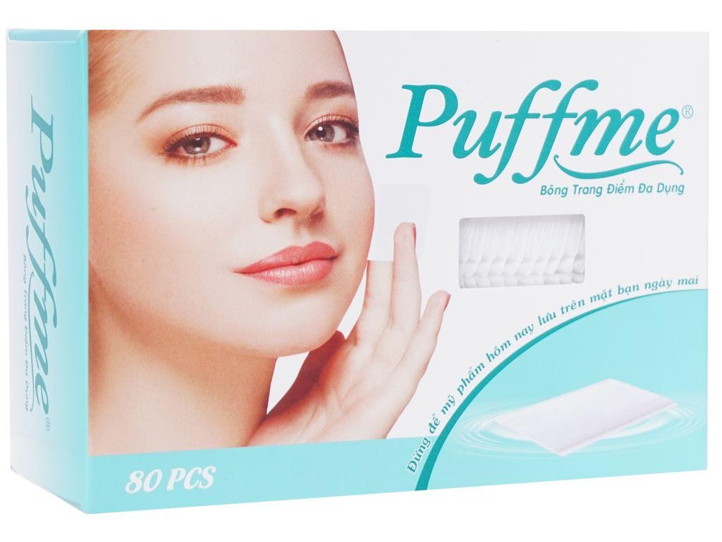 Bông trang điểm Puffme đa dụng hộp 80 miếng 1