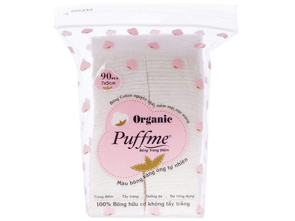 Bông trang điểm Puffme Organic bịch 90 miếng 1