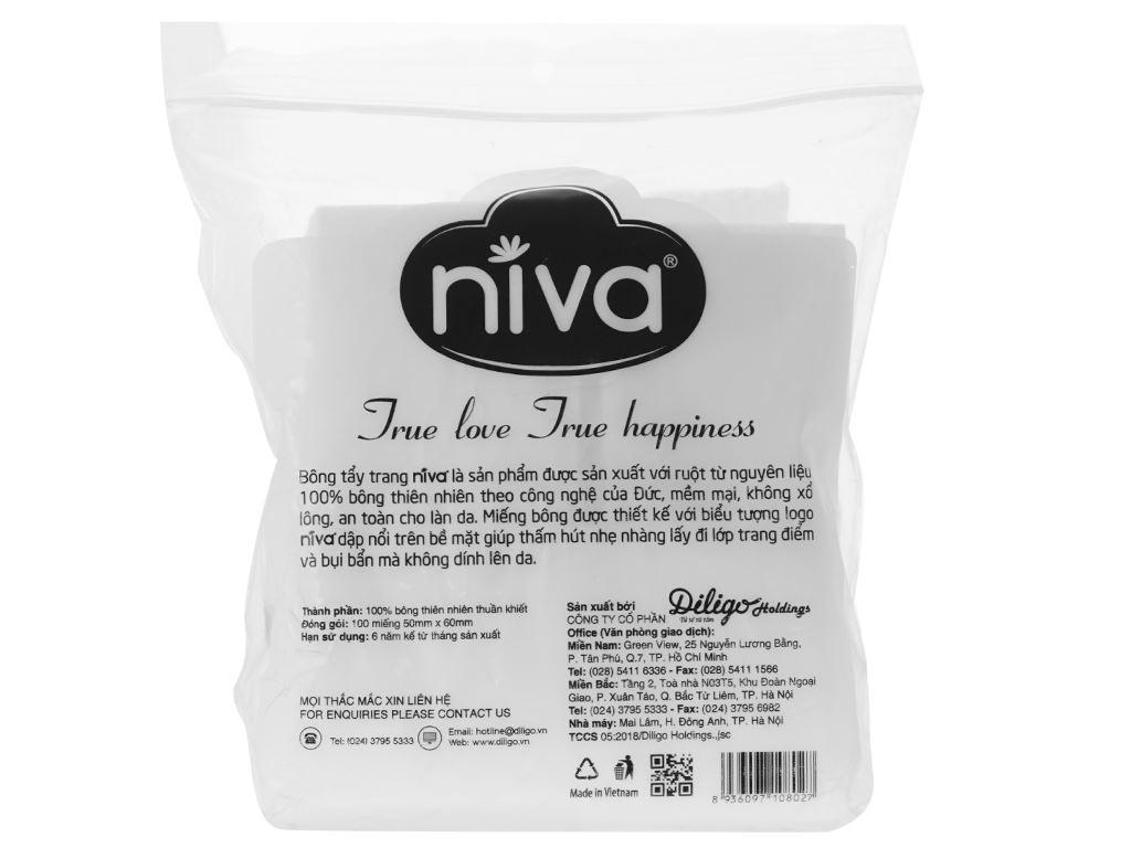 Bông tẩy trang đa dụng Niva 100 miếng 2