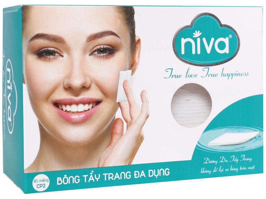 Bông tẩy trang đa dụng Niva hộp 80 miếng 1