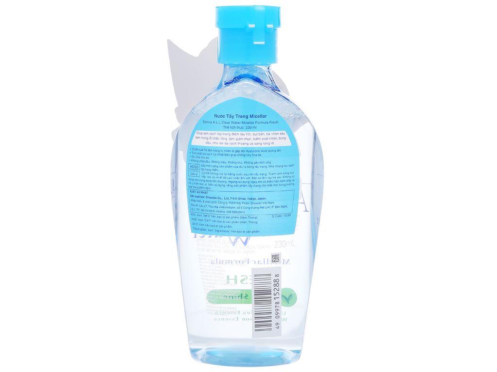 Nước tẩy trang Senka Micellar Anti Shine 230ml 2