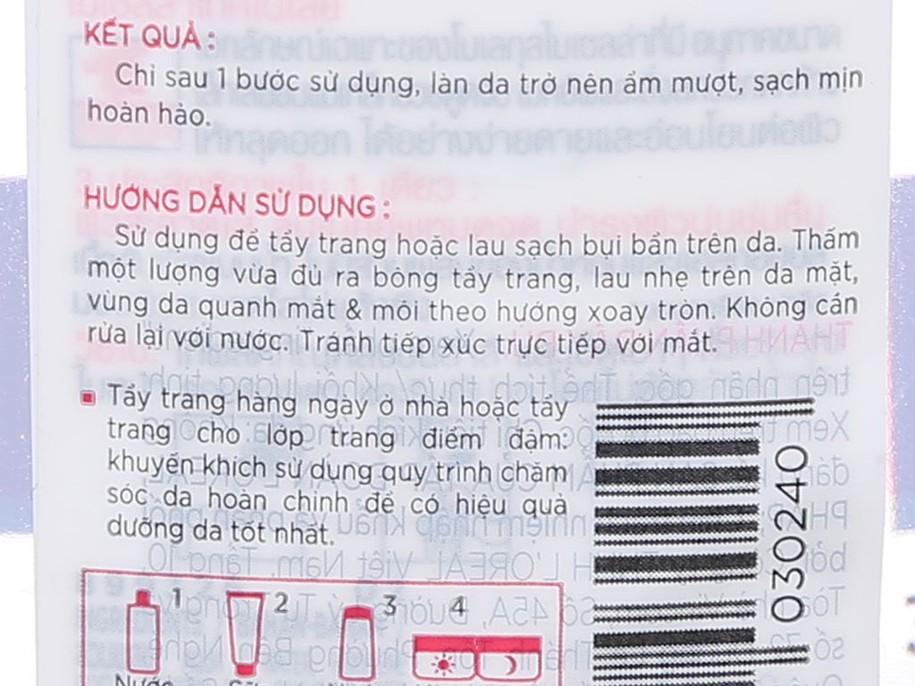 Nước tẩy trang 3 in 1 L'Oréal Micellar ẩm mượt da 400ml 4