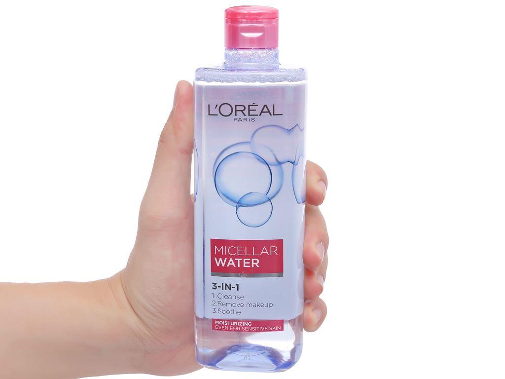 Nước tẩy trang 3 in 1 L'Oréal Micellar ẩm mượt da 400ml 6