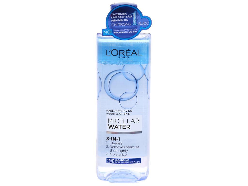 Nước tẩy trang 3 in 1 L'Oréal Micellar làm sạch sâu 400ml 1