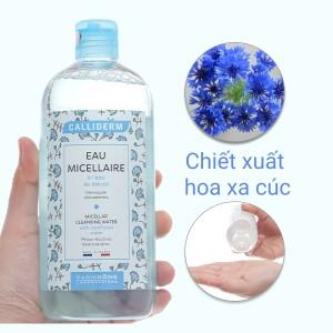 Nước tẩy trang 3 in 1 Calliderm Micellar chiết xuất hoa bleuet 500ml