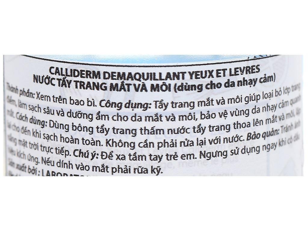 Nước tẩy trang mắt và môi Calliderm Micellar 250ml 3