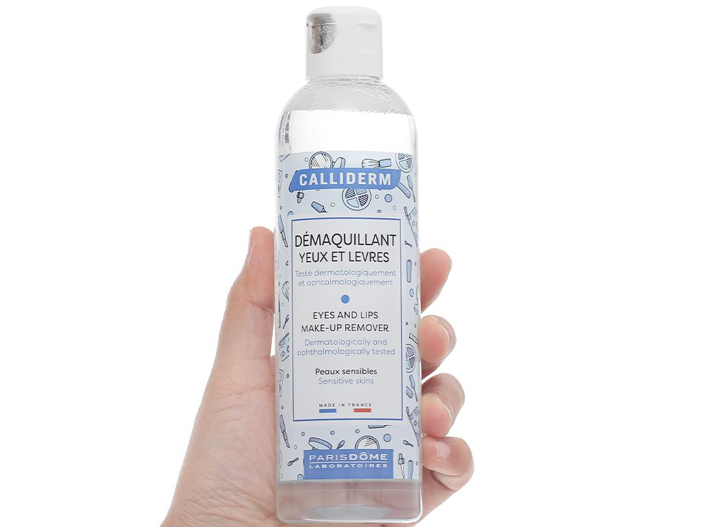 Nước tẩy trang mắt và môi Calliderm Micellar 250ml 4
