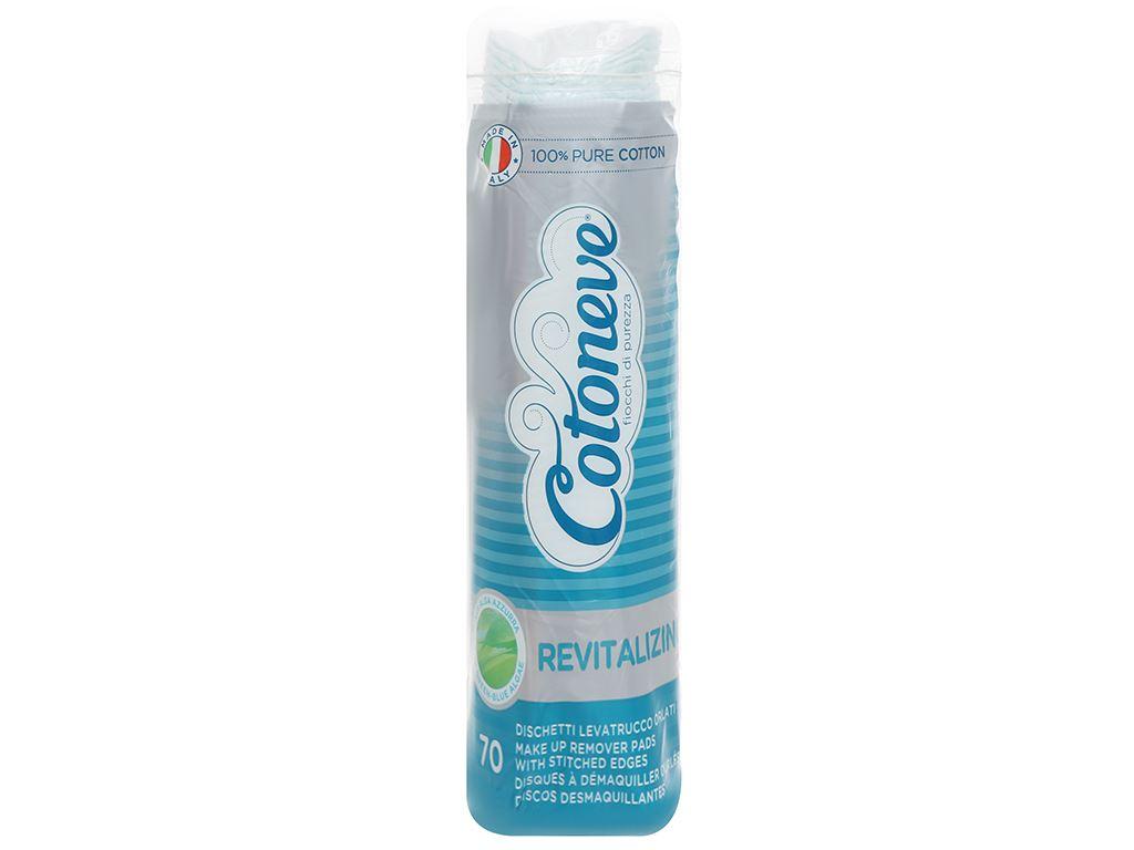 Bông tẩy trang Cotoneve 2 trong 1 túi 70 miếng (xanh) 1