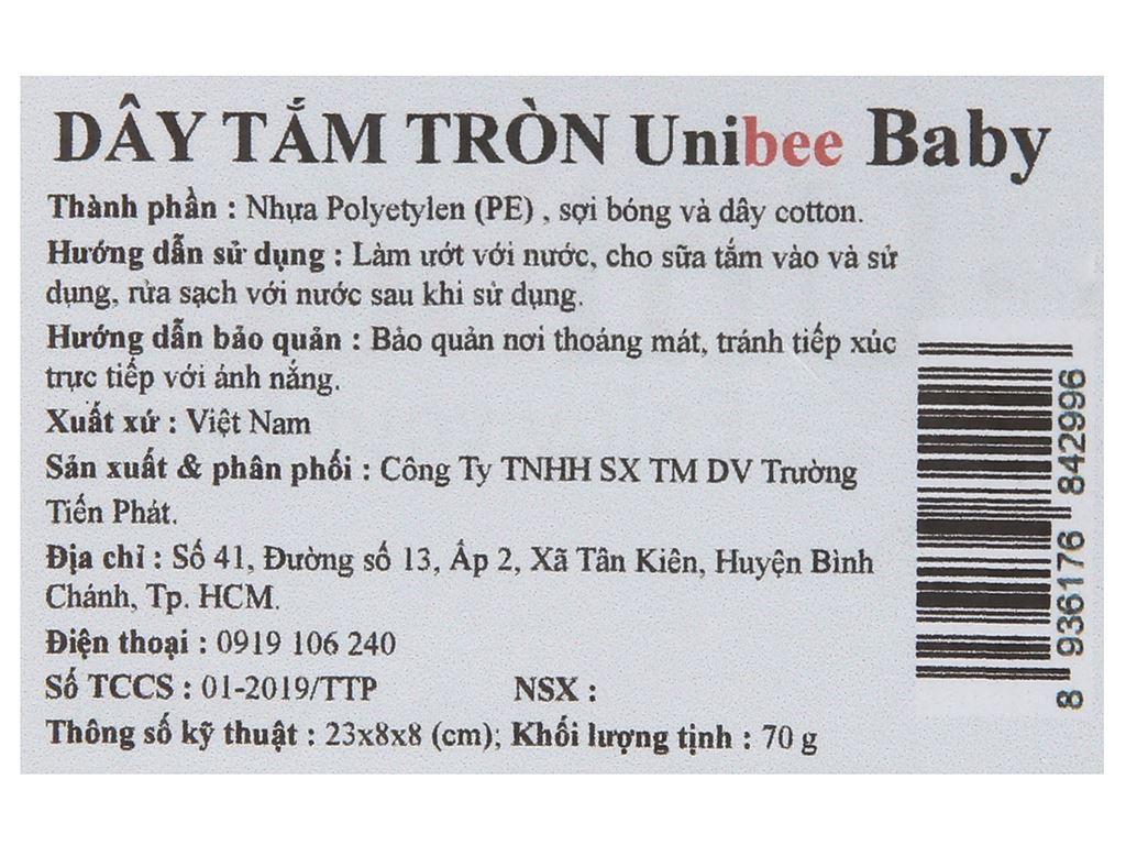 Dây tắm tròn Unibee Baby 70g (giao màu ngẫu nhiên) 5