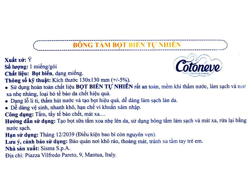 Bông tắm bọt biển Cotoneve 6