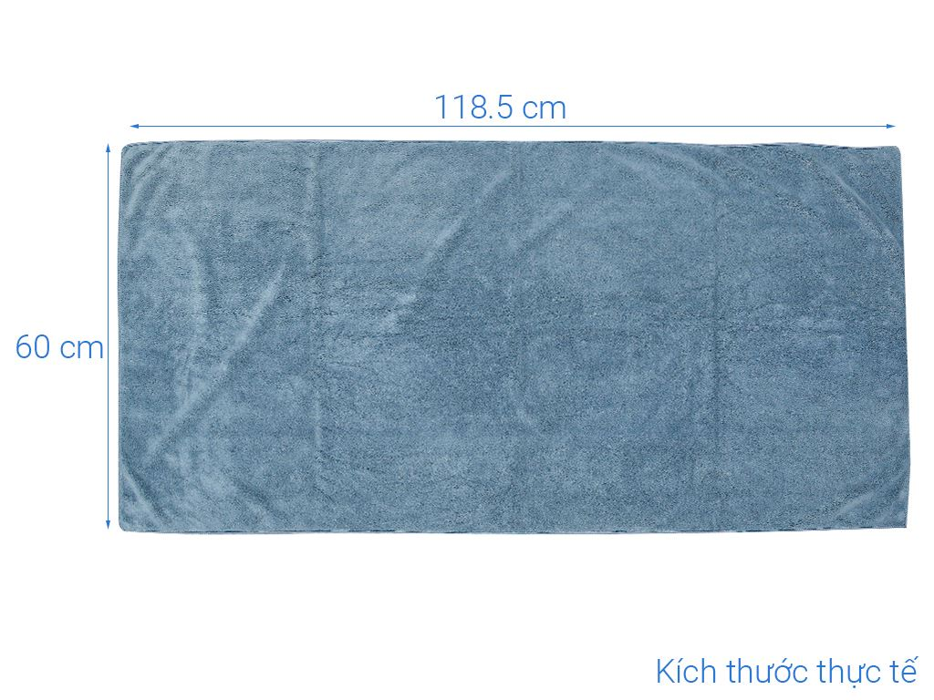 Khăn tắm siêu mềm Bách hoá XANH CET787 60cm x 120cm (giao màu ngẫu nhiên) 3