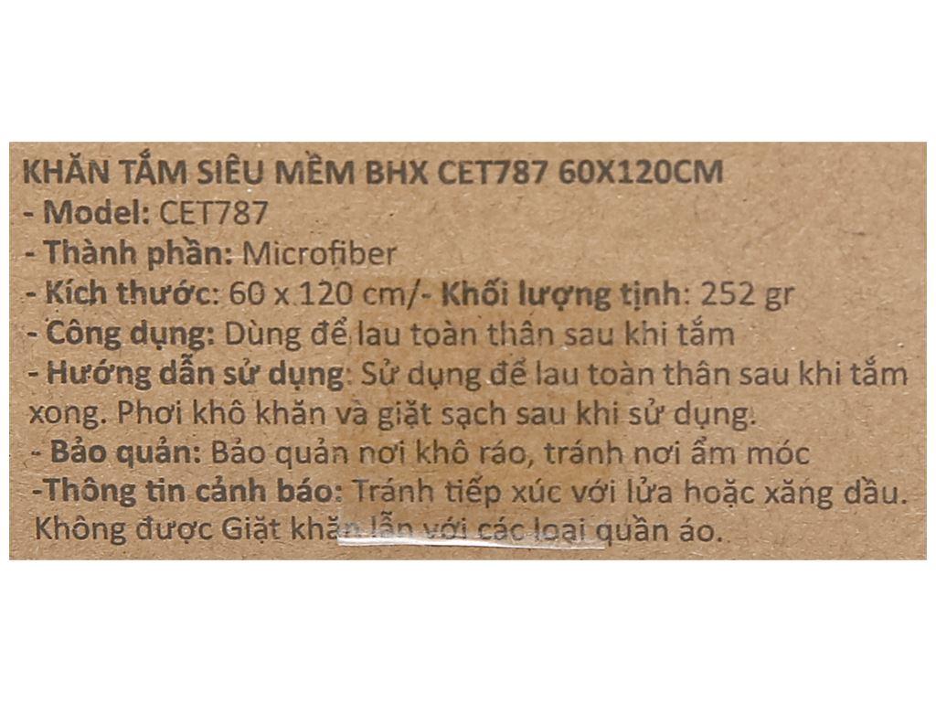 Khăn tắm siêu mềm Bách hoá XANH CET787 60cm x 120cm (giao màu ngẫu nhiên) 4
