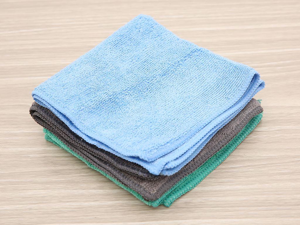 Bộ 3 khăn lau bếp đa năng microfiber Bách hoá XANH 30 x 30cm 1