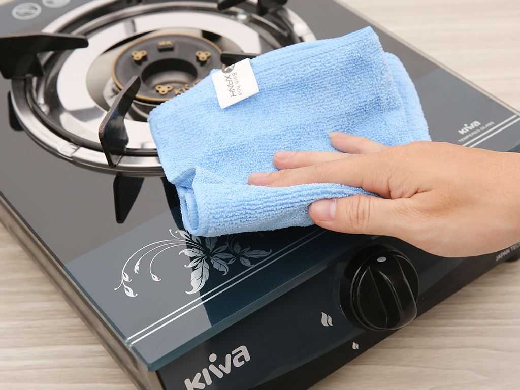 Bộ 3 khăn lau bếp đa năng microfiber Bách hoá XANH 30 x 30cm 4